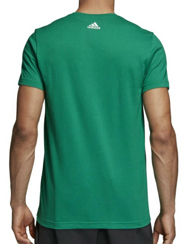 adidas adidas sliced linear t-shirt uomo verde cv4512
