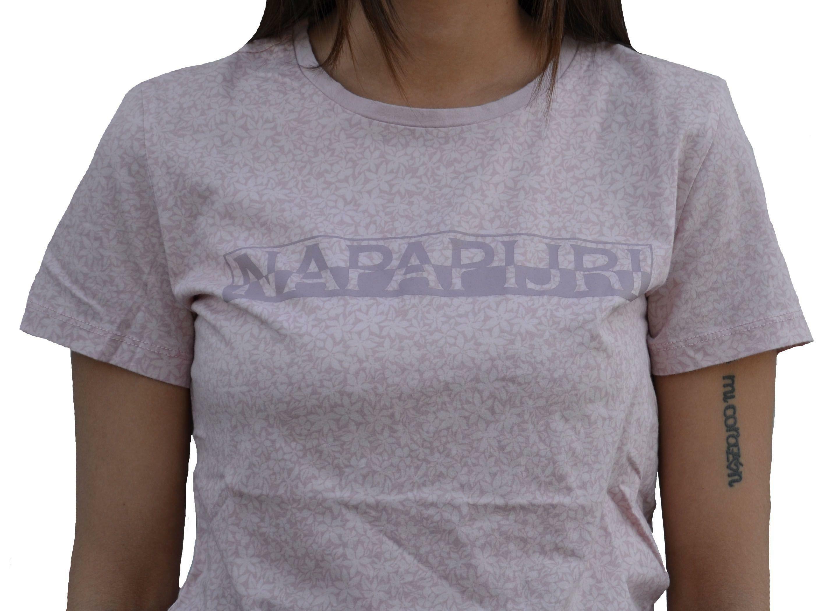 napapijri napapijri sakuma t-shirt donna rosa fantasia floreale n0yg0cf20