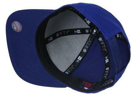 new era mens mesh overlay cappello uomo cotone azzurro