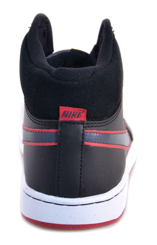 nike nike backboard 2 mid (gs) scarpe nere pelle 488157