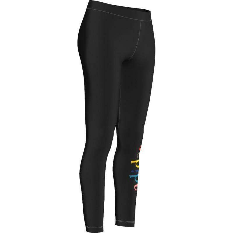 adidas adidas leggings donna cotone elasticizzati neri ay6643