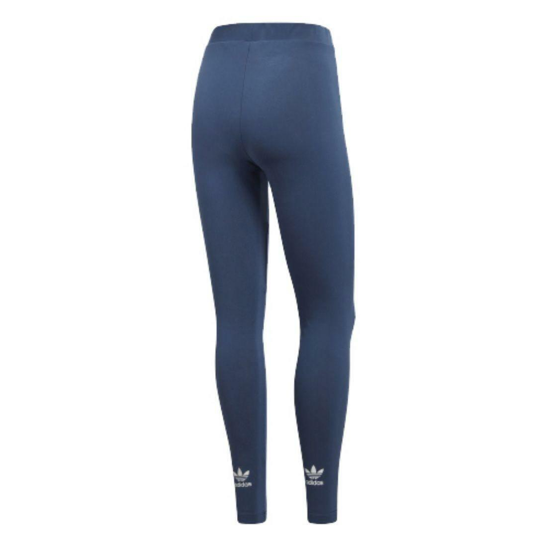 adidas adidas trefoil tight leggings donna blu cw5078