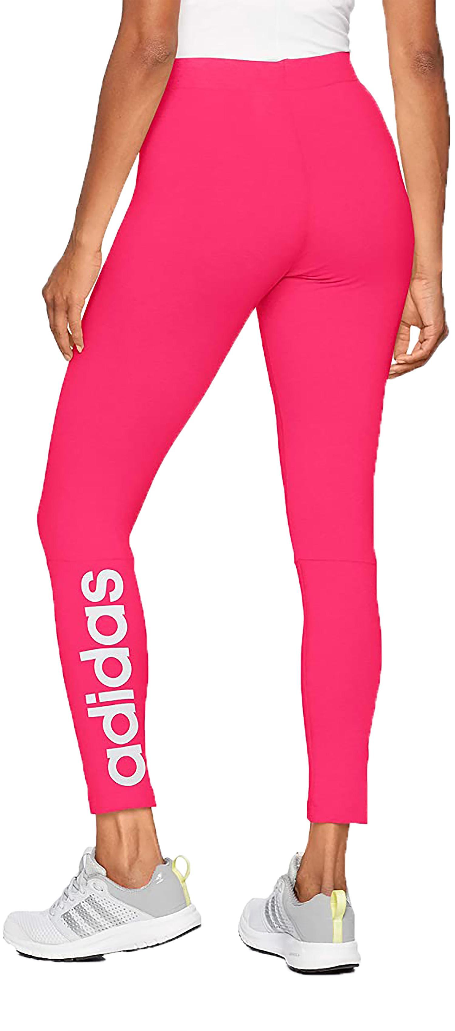 adidas adidas ess lin tight leggings donna fucsia cz5743