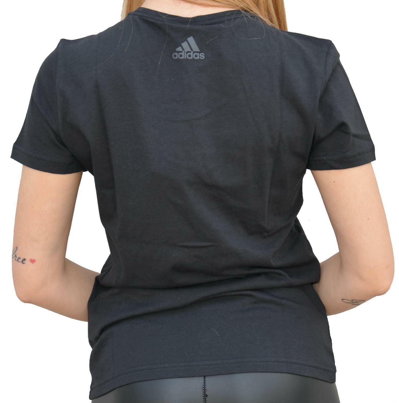 adidas adidas linear tee t-shirt donna nera dj1627