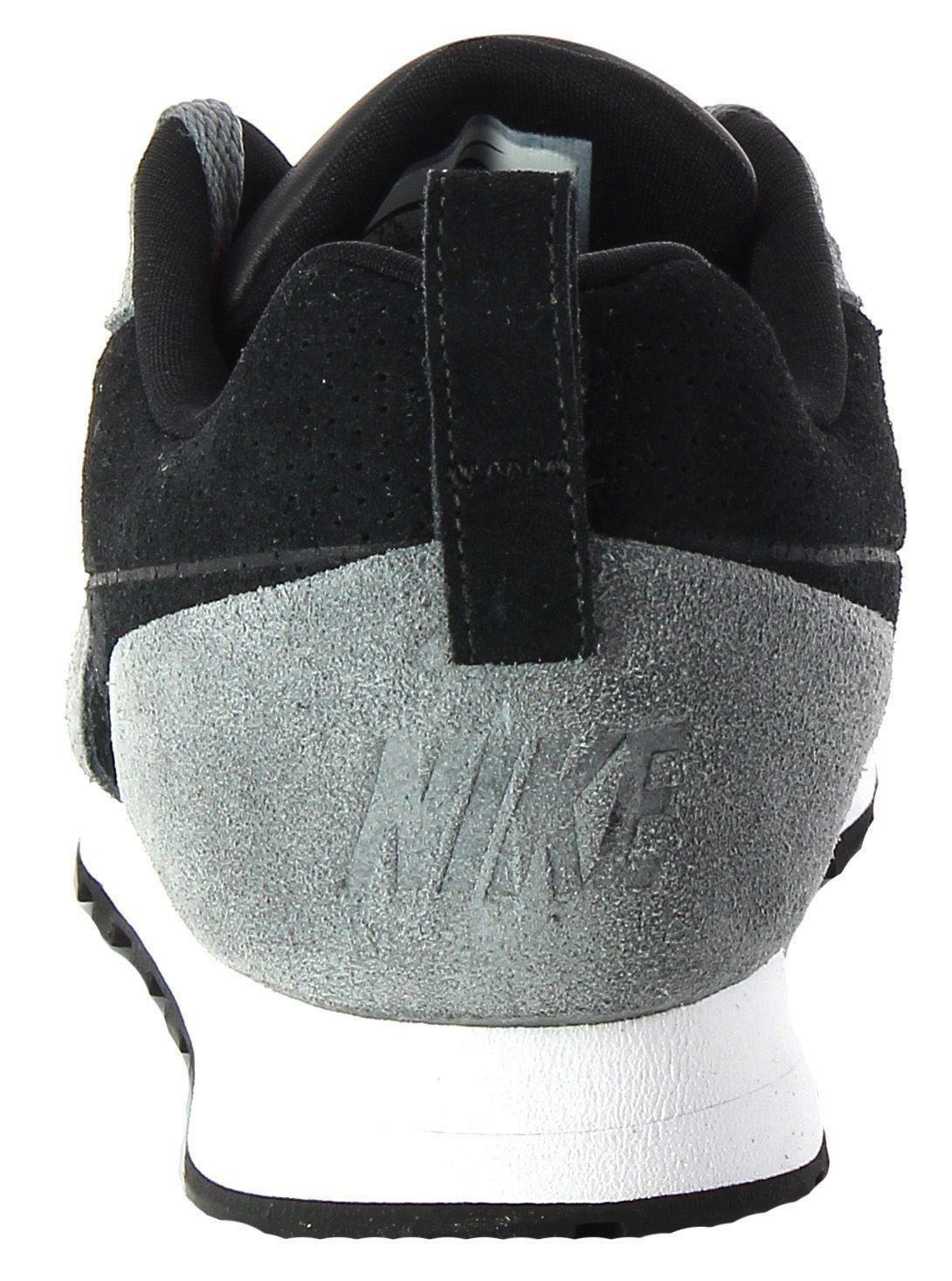 nike nike md runner 2 leather prem scarpe sportive uomo grigie