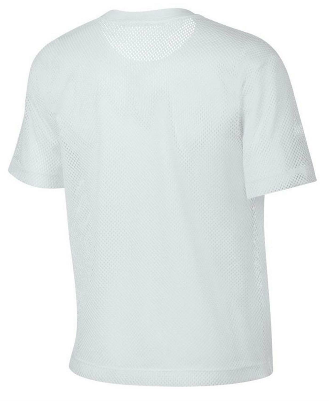nike nike nsw mesh top donna bianco 917565100