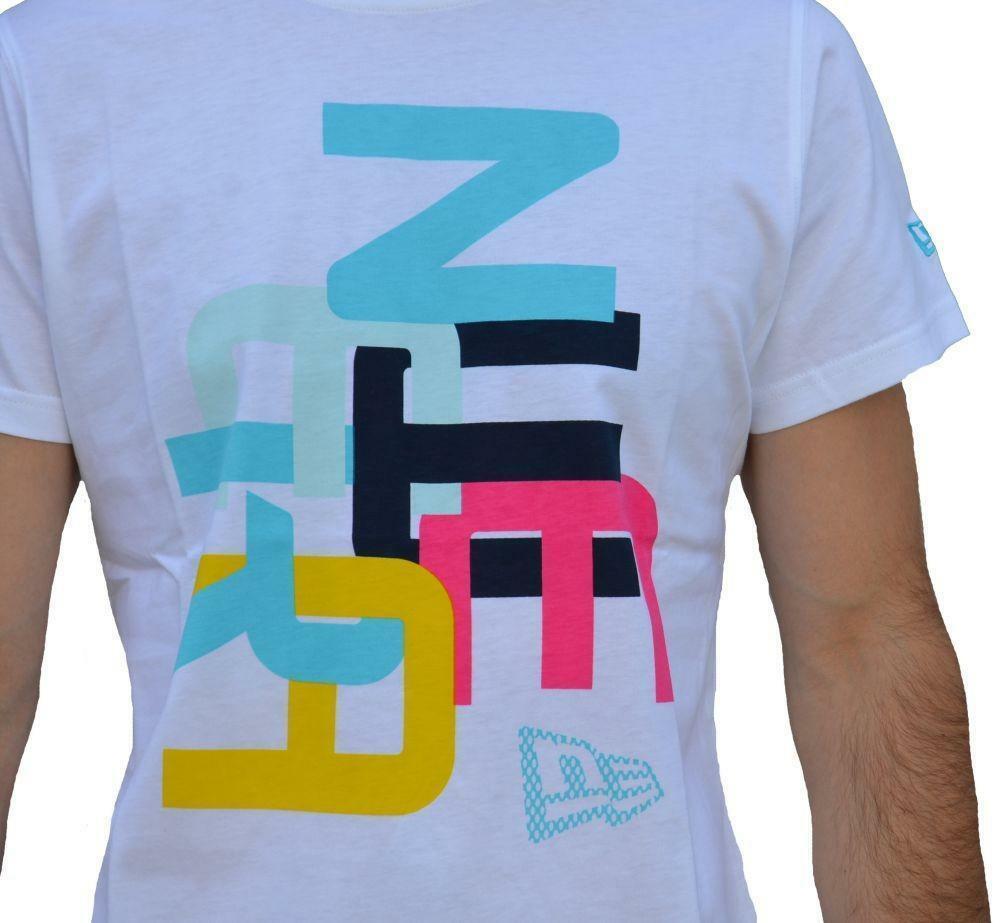 new era new era jumble tee wht t-shirt uomo bianca
