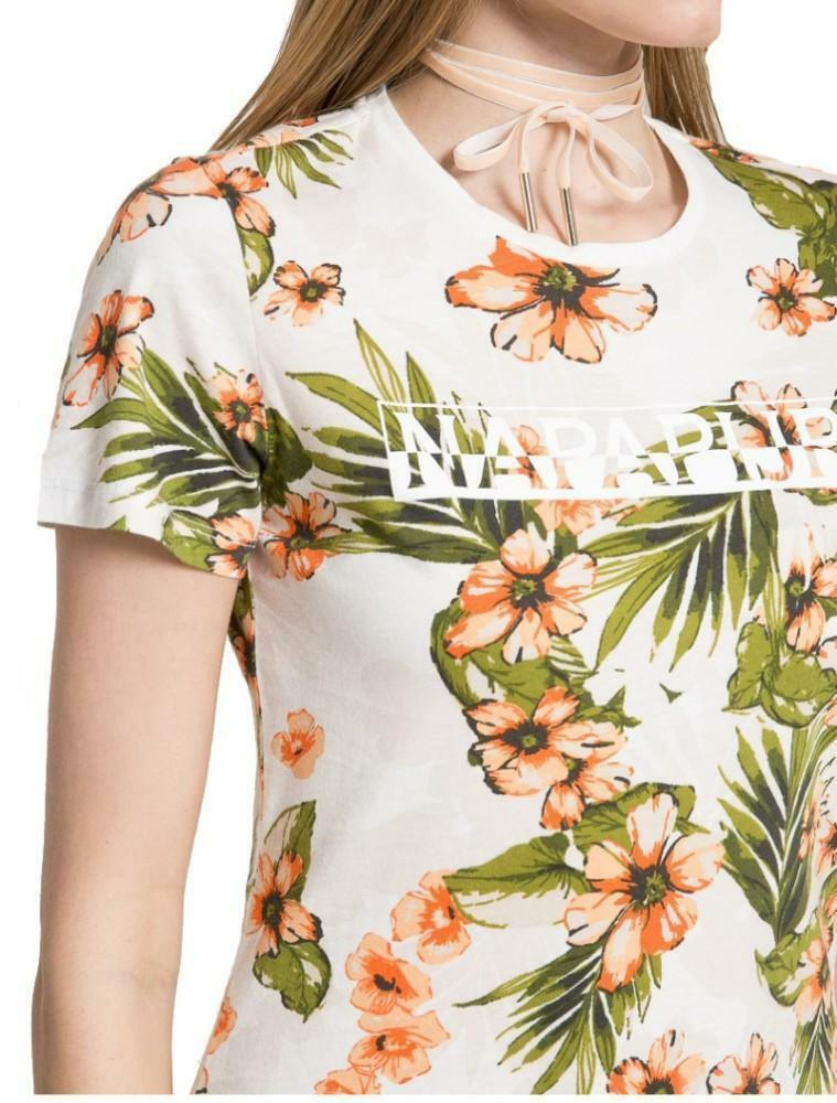 napapijri napapijri sakuma t-shirt donna fantasia floreale