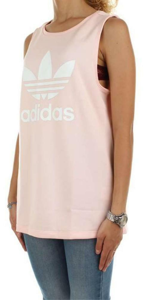 adidas loose trf tank canotta donna rosa
