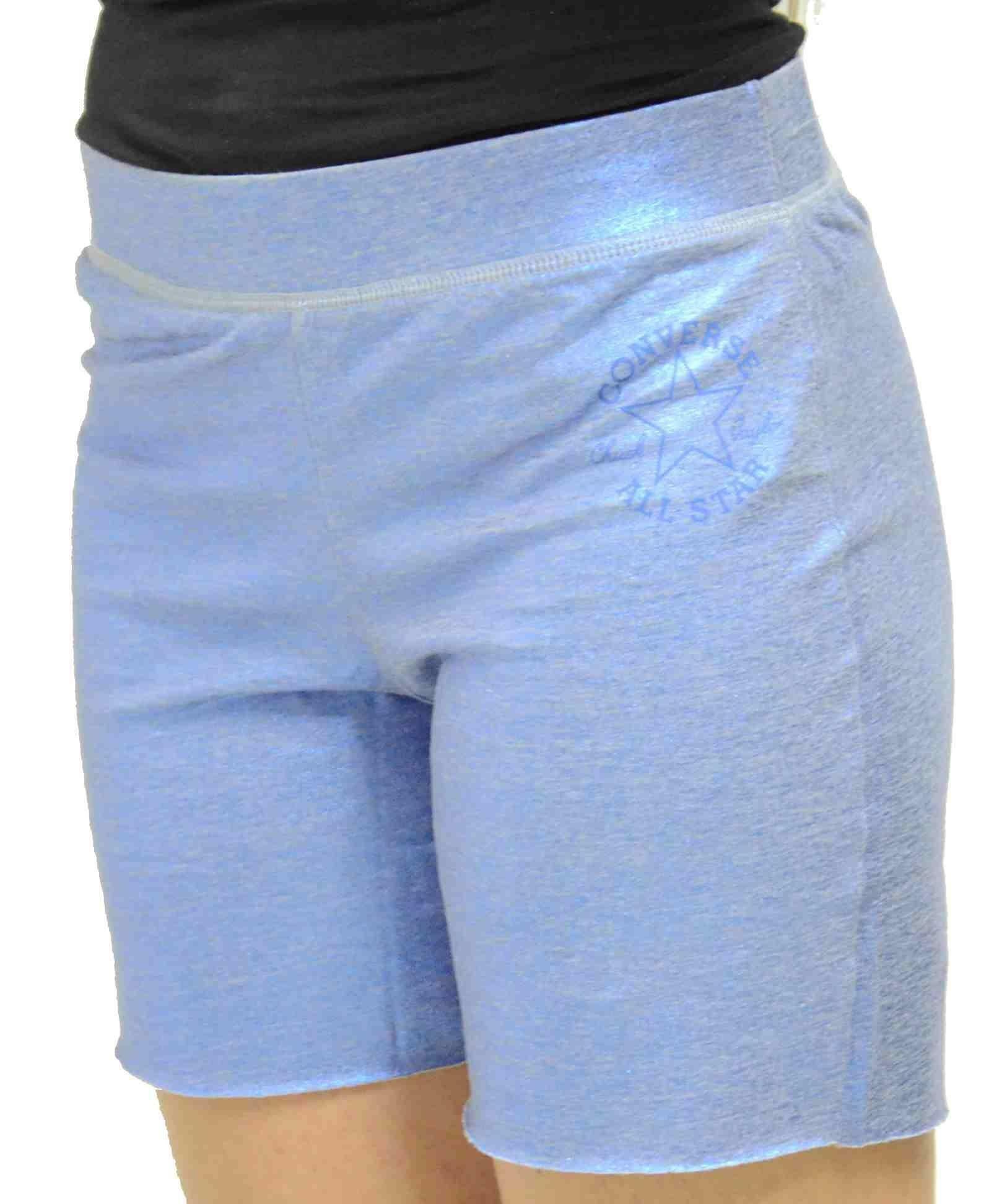 converse short raw cut pantaloncini donna metallici