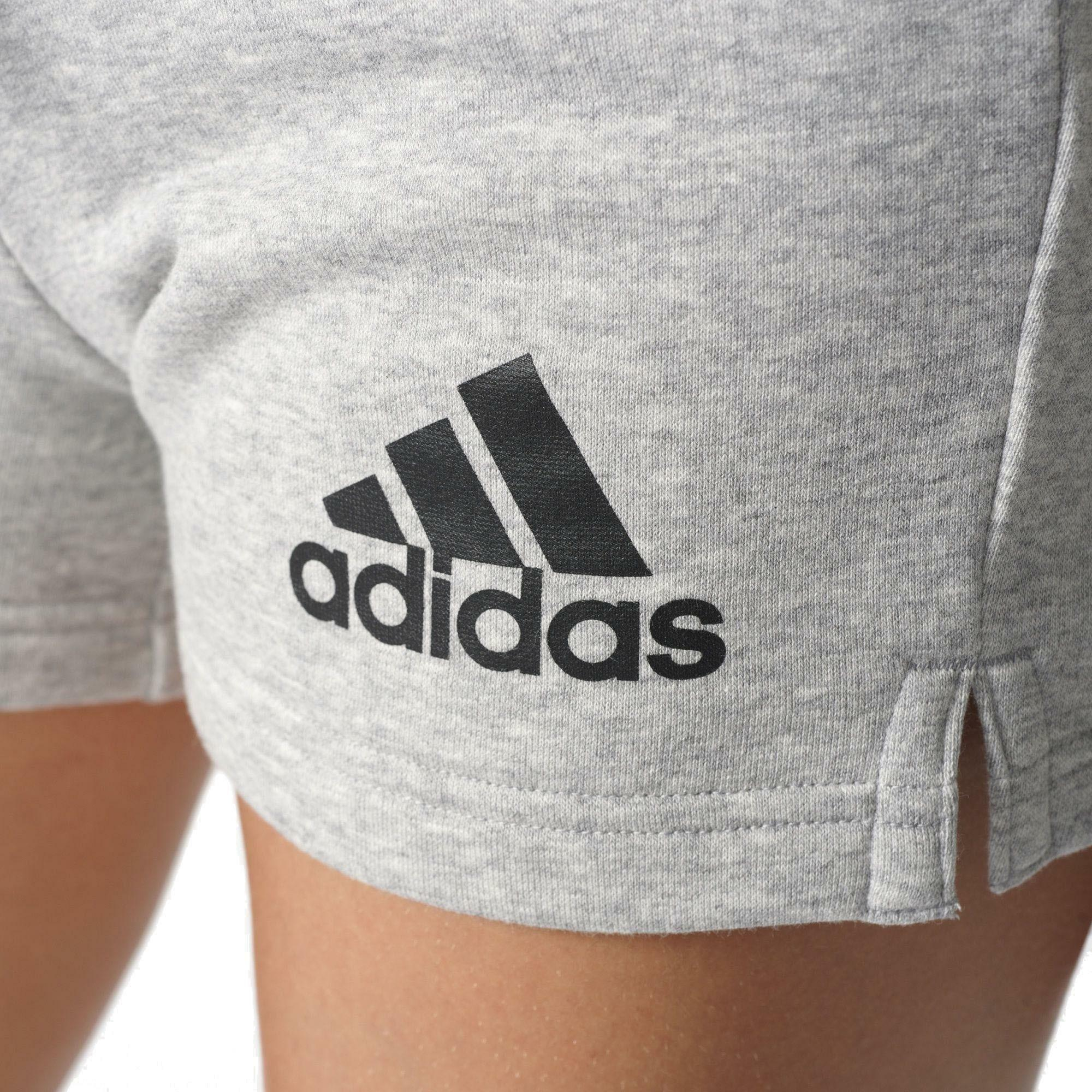 adidas adidas ess solid pantaloncini donna grigi