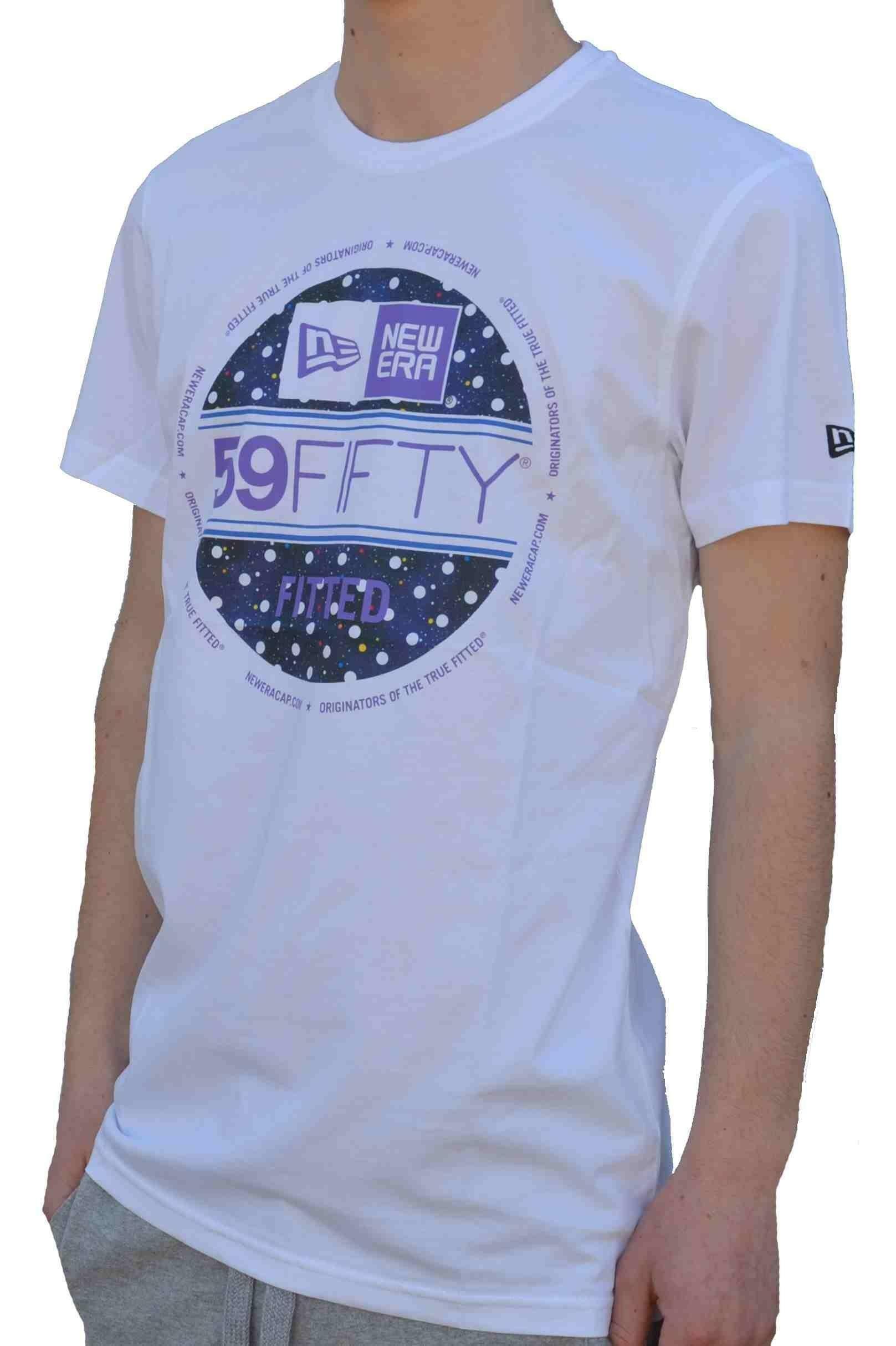 new era new era ps visor sticker tee t-shirt uomo bianca