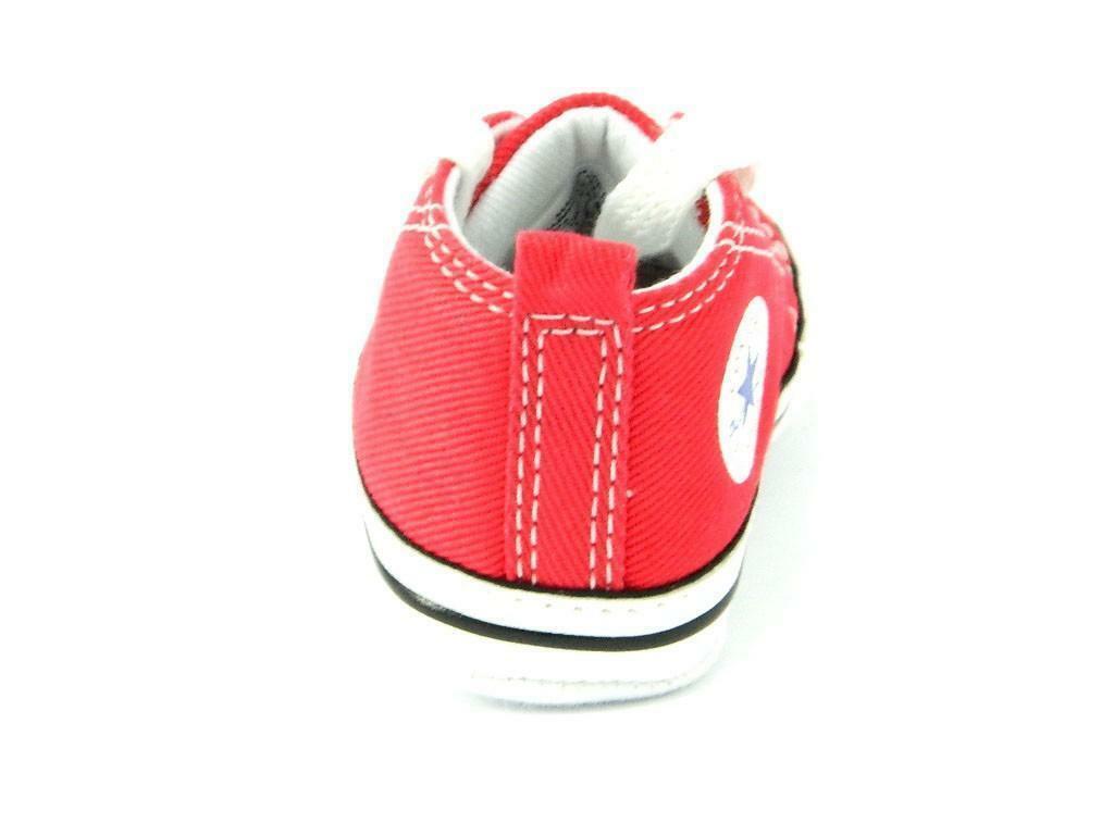 converse all star first star alta hi rosso red bambino neonate 88875