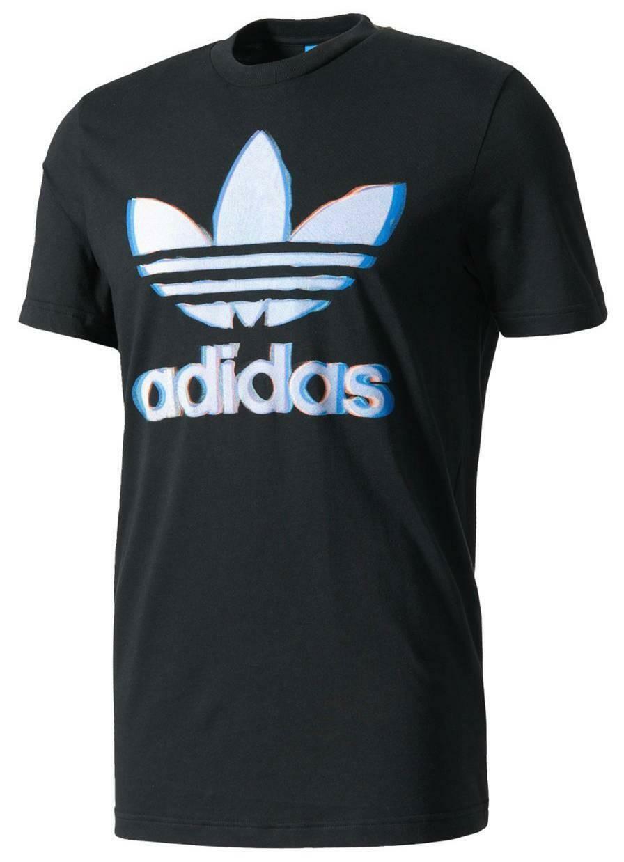 adidas originals adidas chromatic trefo t-shirt uomo nera