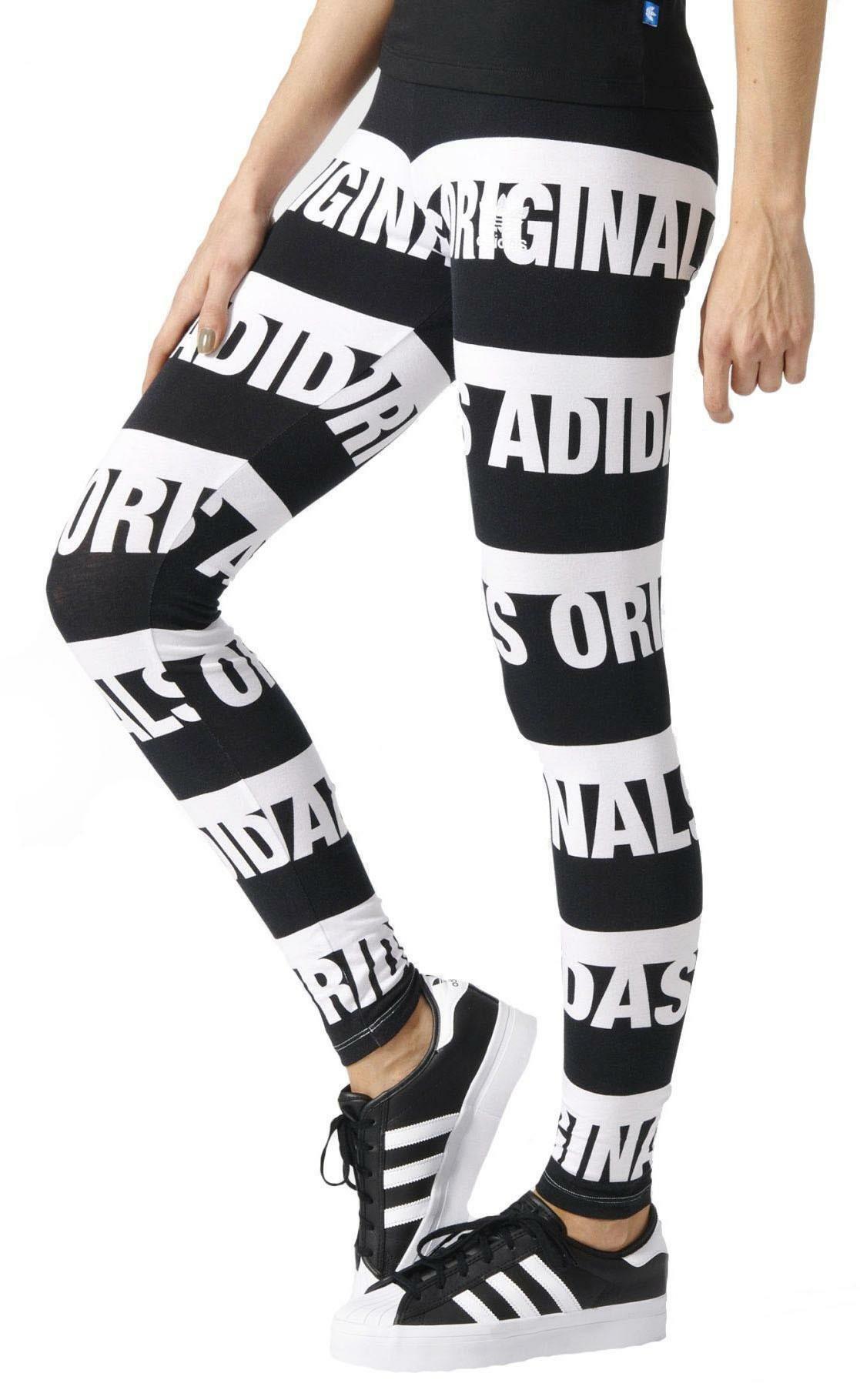 adidas adidas originals leggings donna neri