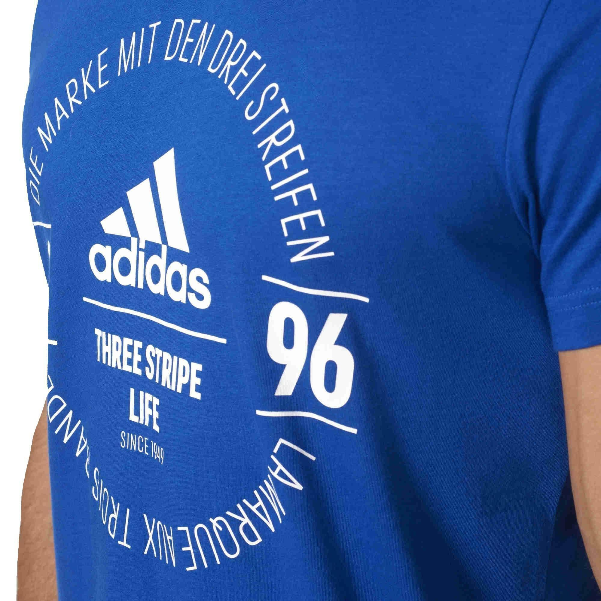 adidas adidas logo tee t-shirt uomo blu