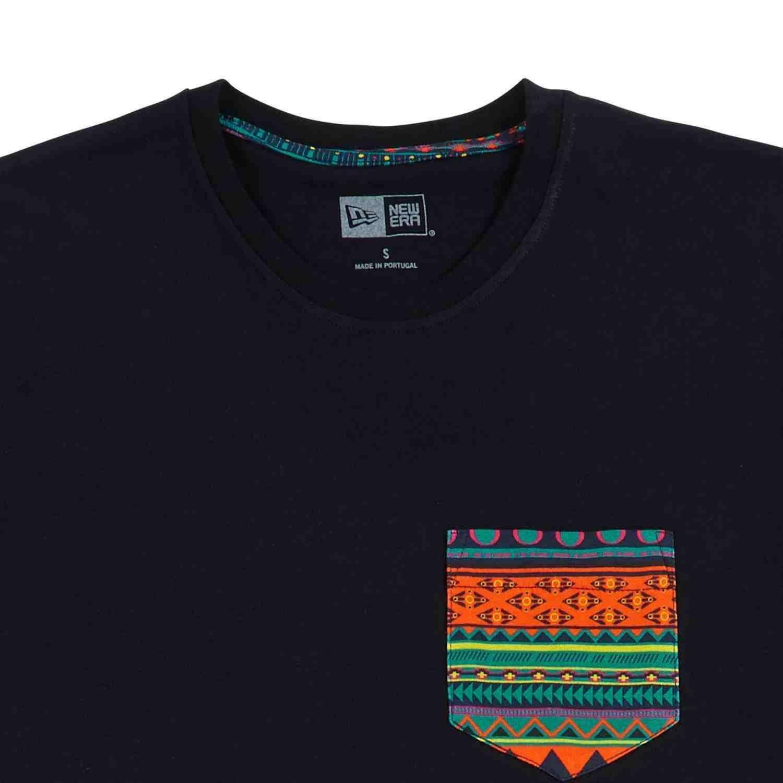 new era new era native pocket tee t-shirt uomo nera