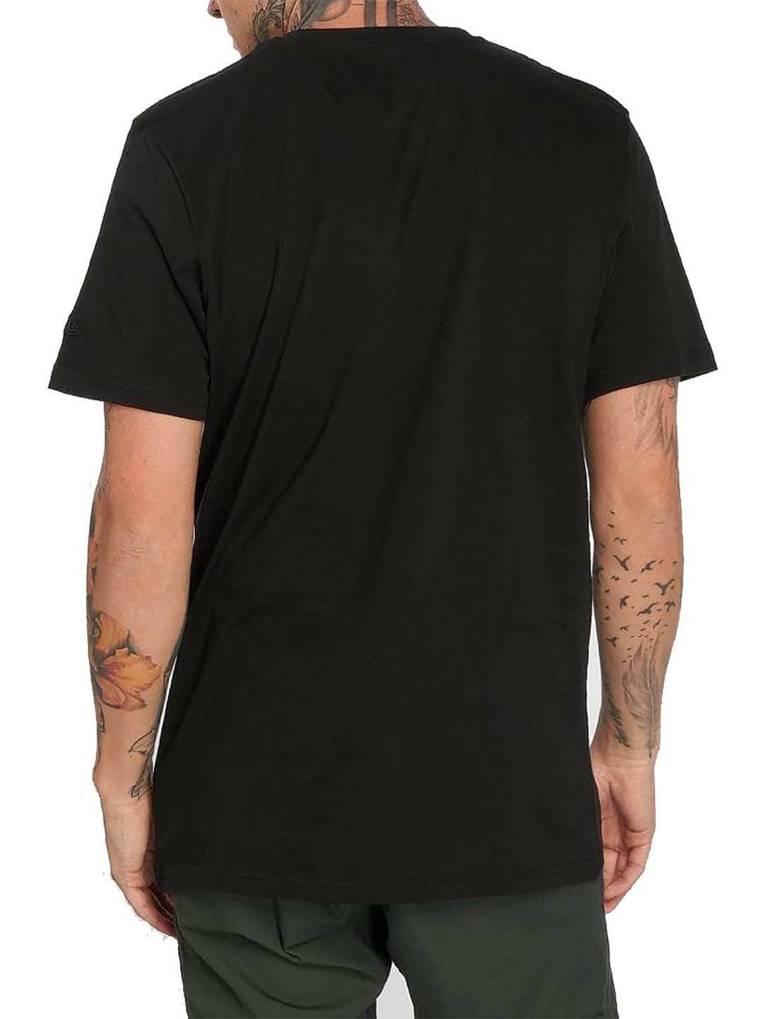 new era new era team apparel infill logo tee losdod t-shirt uomo nera 11569446