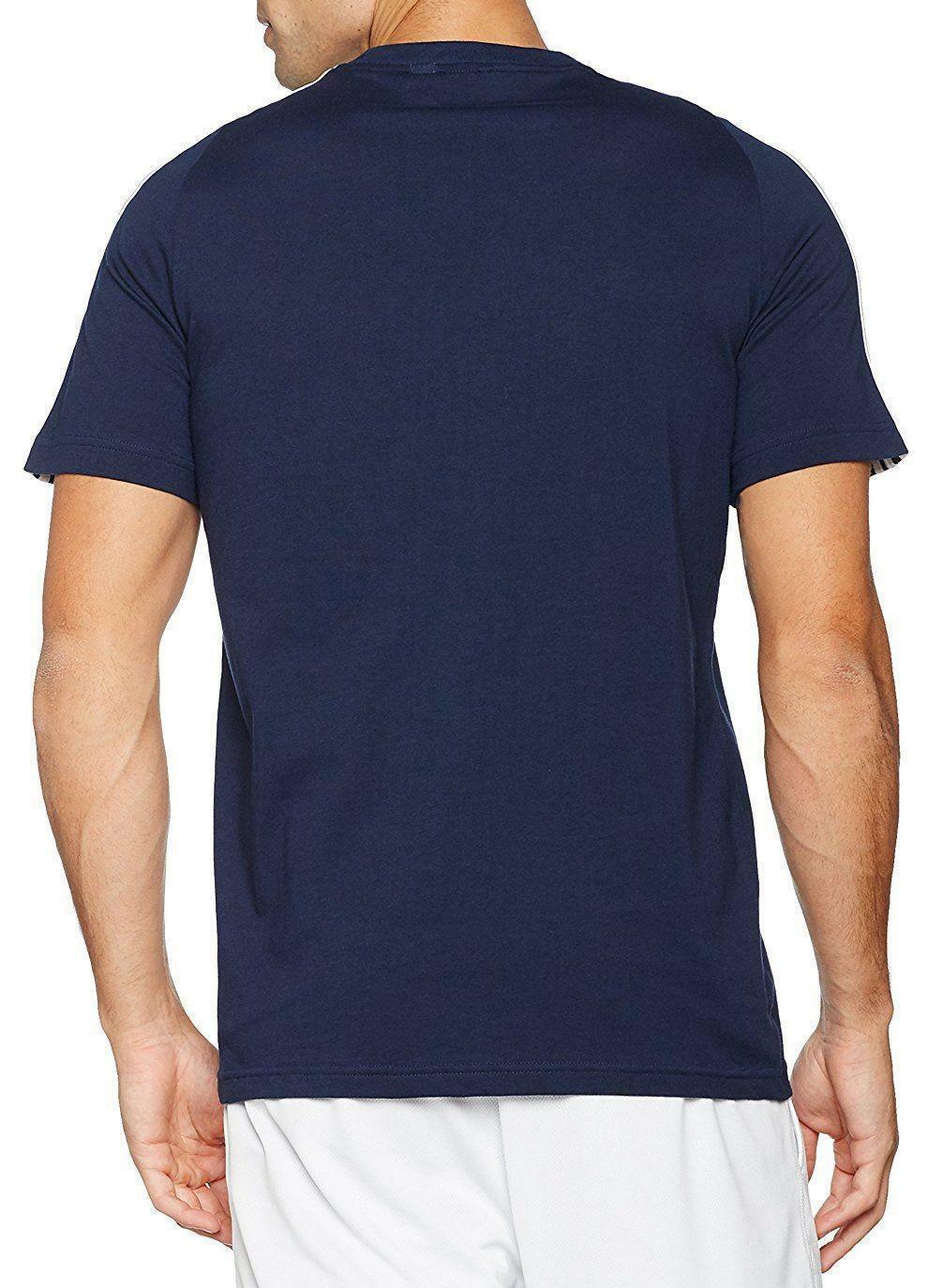 adidas adidas ess 3s tee t-shirt uomo blu