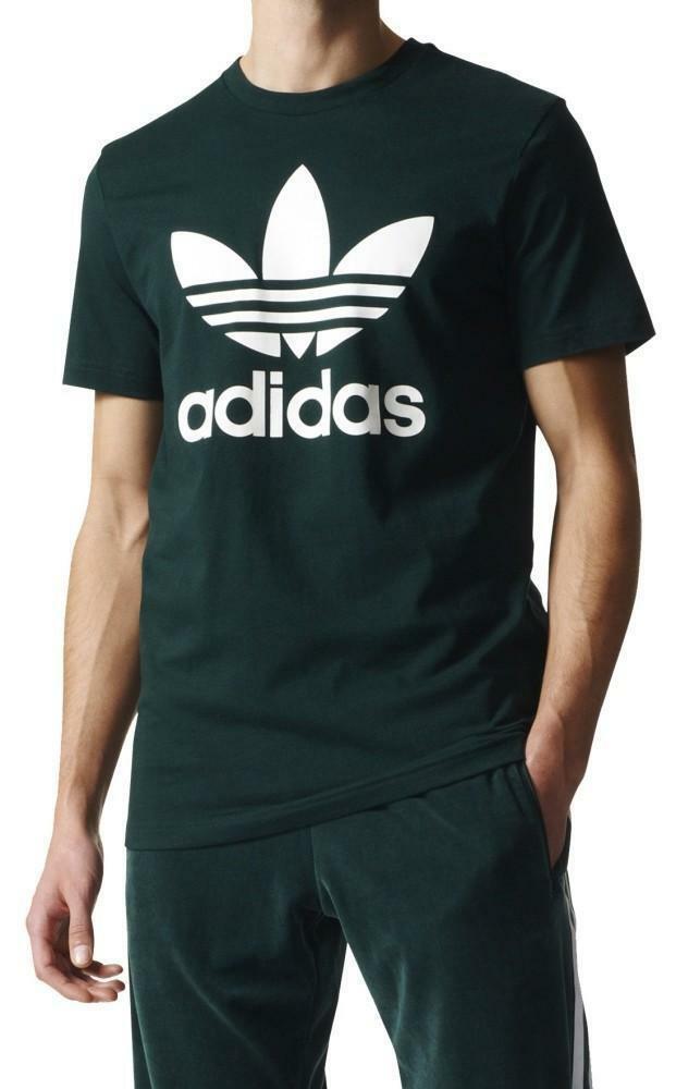 adidas adidas original trefoil t-shirt uomo verde