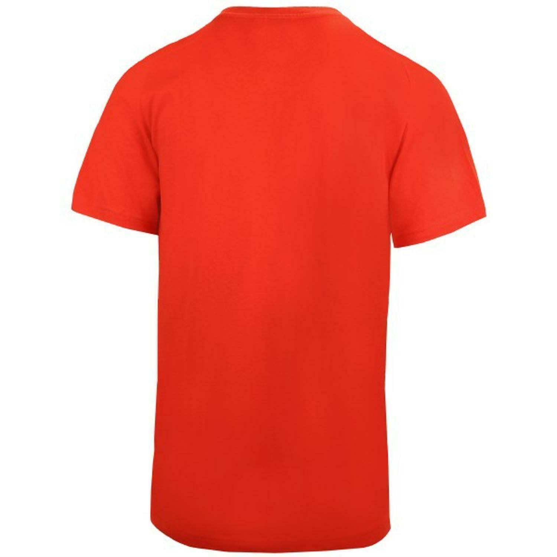 adidas adidas ess base tee t-shirt uomo rosso corallo