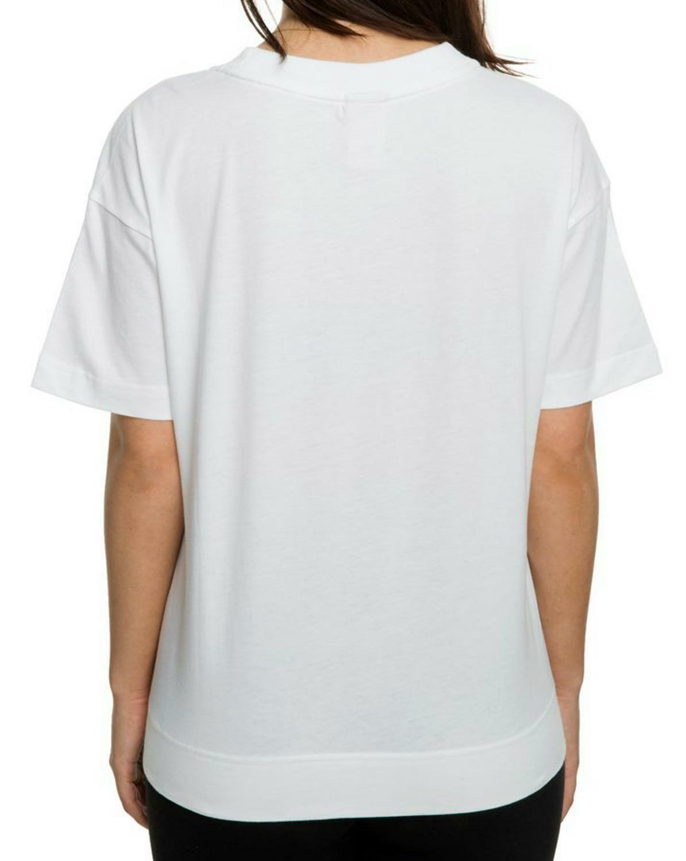 nike nike w nsw crop metallic t-shirt donna bianca ah9963100