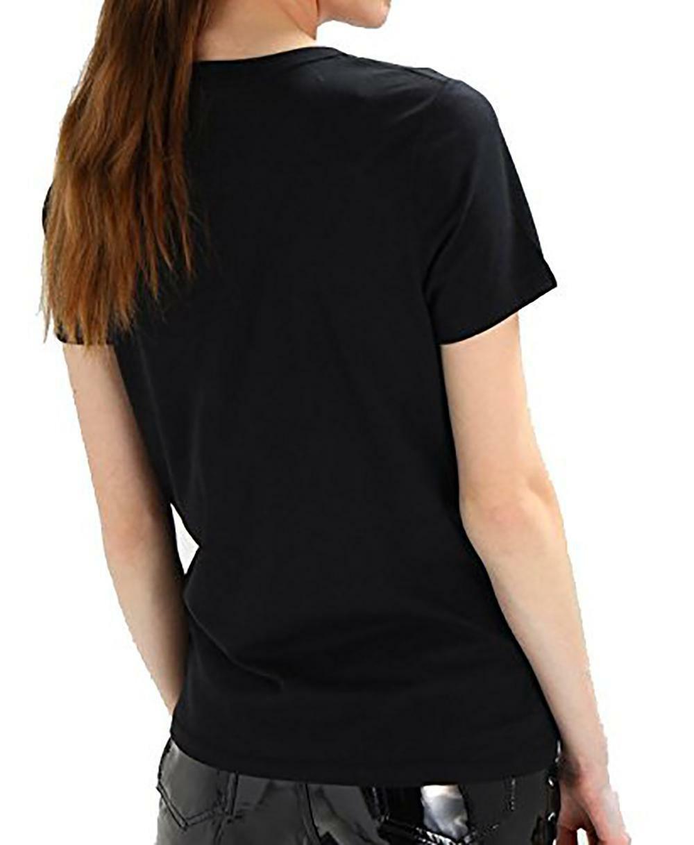 converse converse classic fit t-shirt donna nera 10005788a01