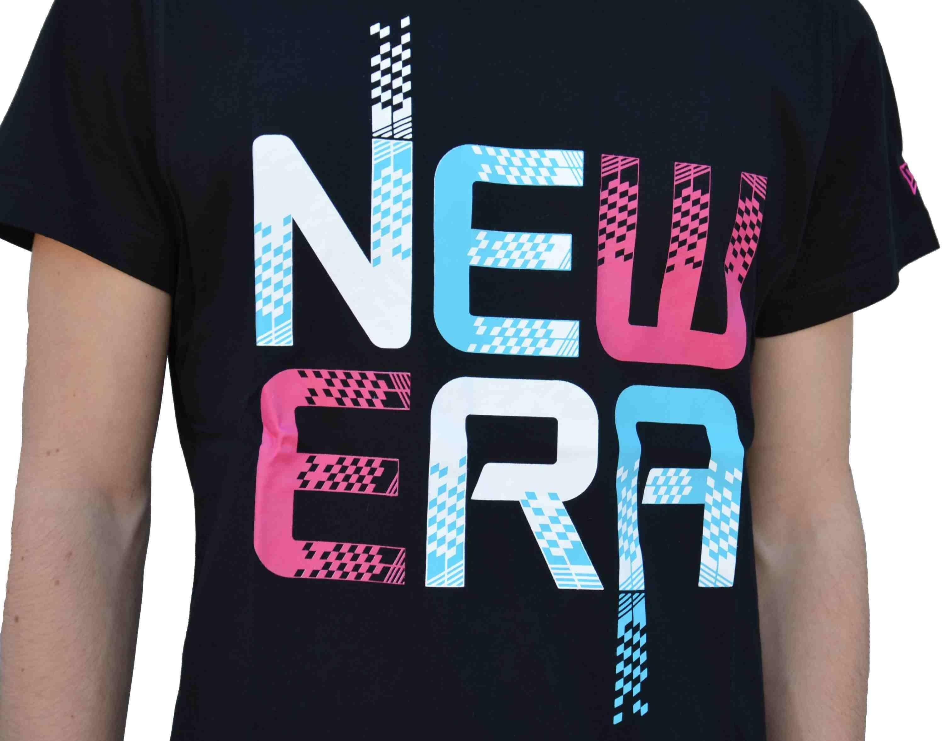 new era new era pixel speed t-shirt uomo nera