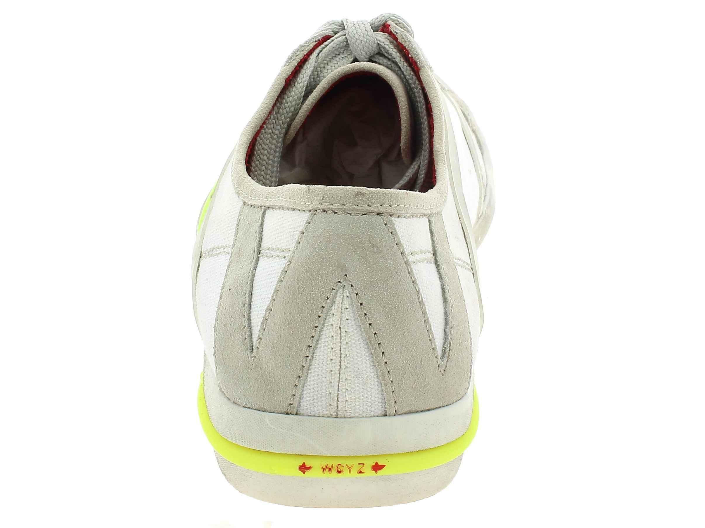 w6yz w6yz scarpe sportive uomo in pelle bianche skater laces