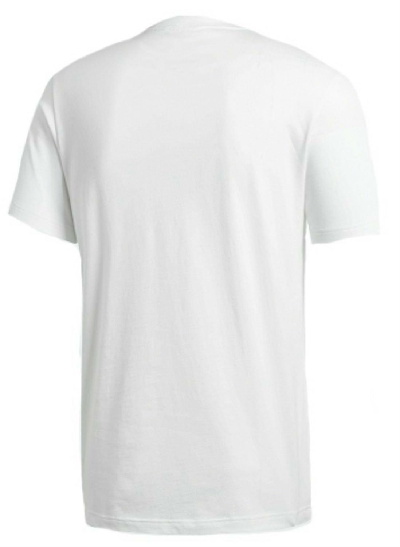 adidas originals adidas tongue label t-shirt uomo bianca cd8830