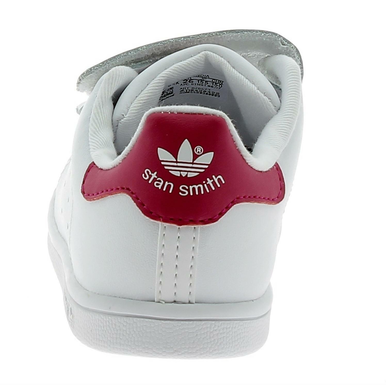 adidas adidas stan smith cf scarpe sportive bambina strappi bianche