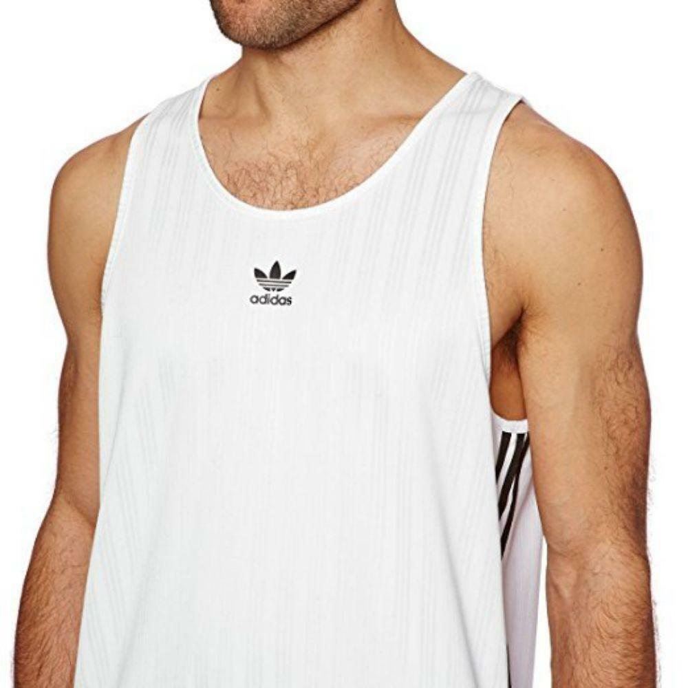 adidas adidas football tank canotta uomo bianca cv8609