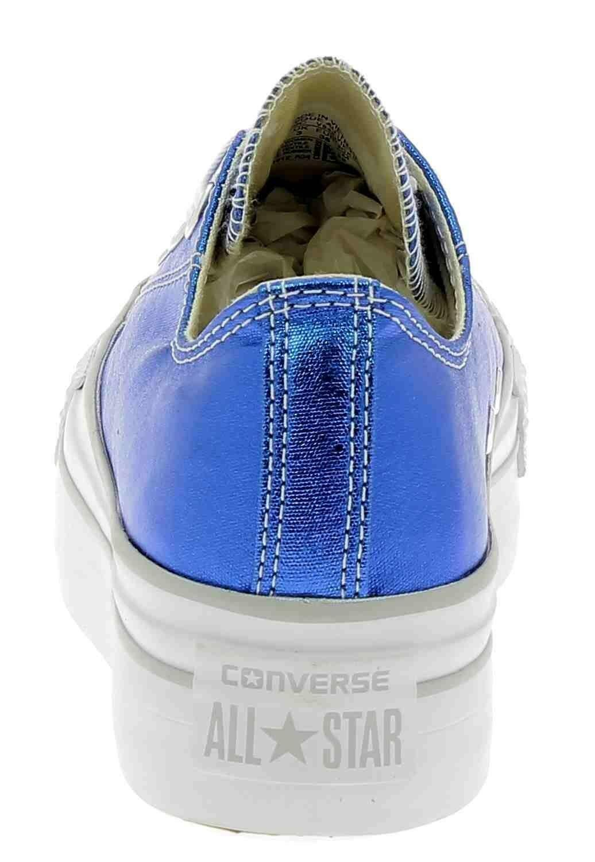 converse blu elettrico