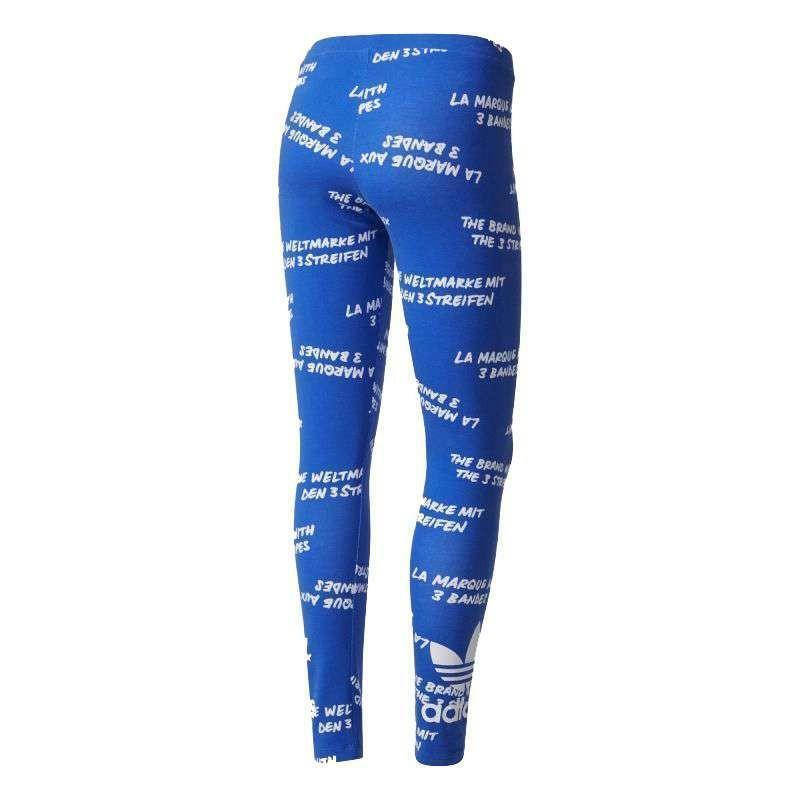 adidas adidas originals trefoil leggings donna blu