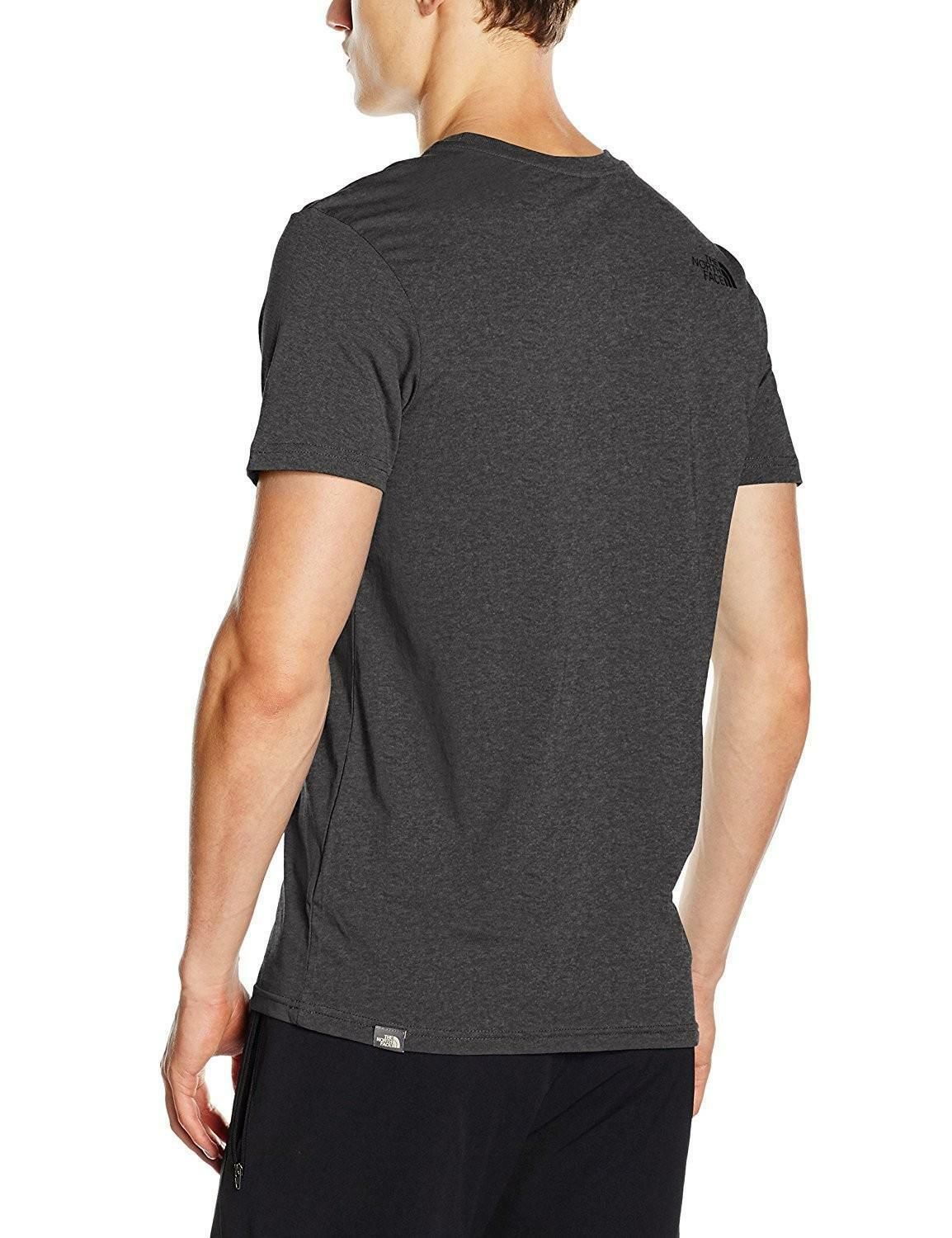 the north face the north face simple dome tee t-shirt uomo grigia
