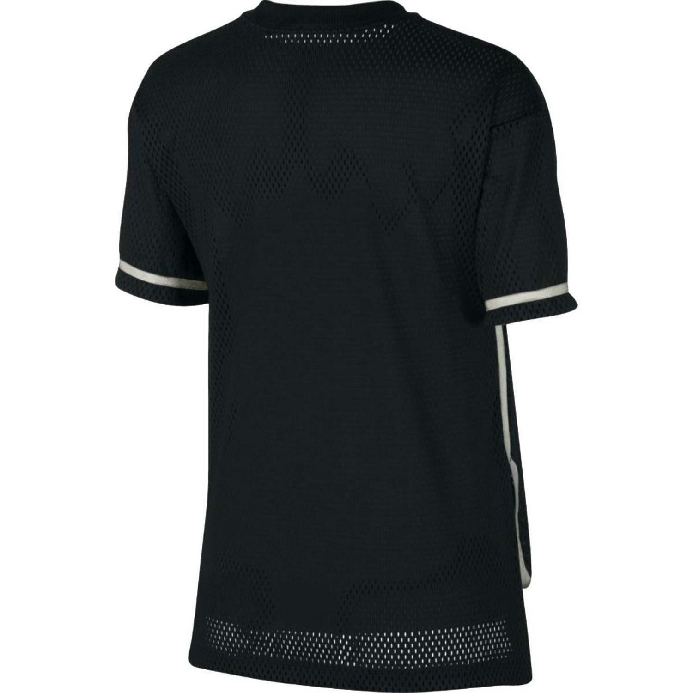nike nike t-shirt mesh donna nera 893673010