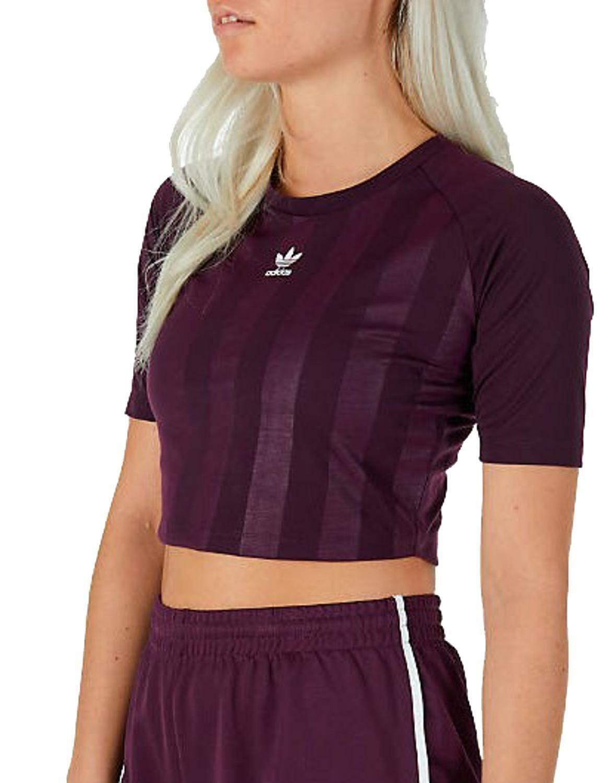 adidas originals adidas aa-42 tee top t-shirt donna viola ce4187