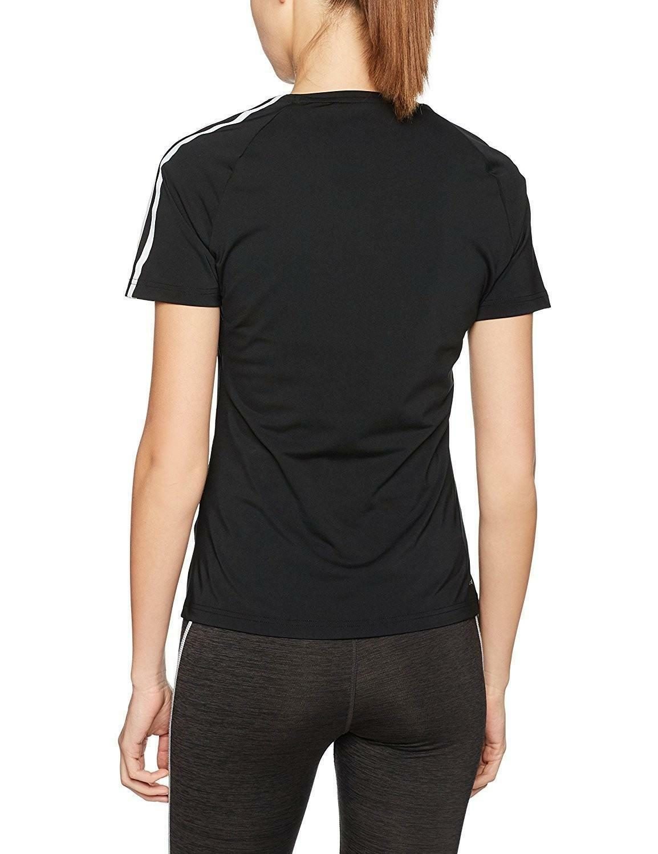 adidas adidas d2m tee 3s t-shirt donna nera bk2682