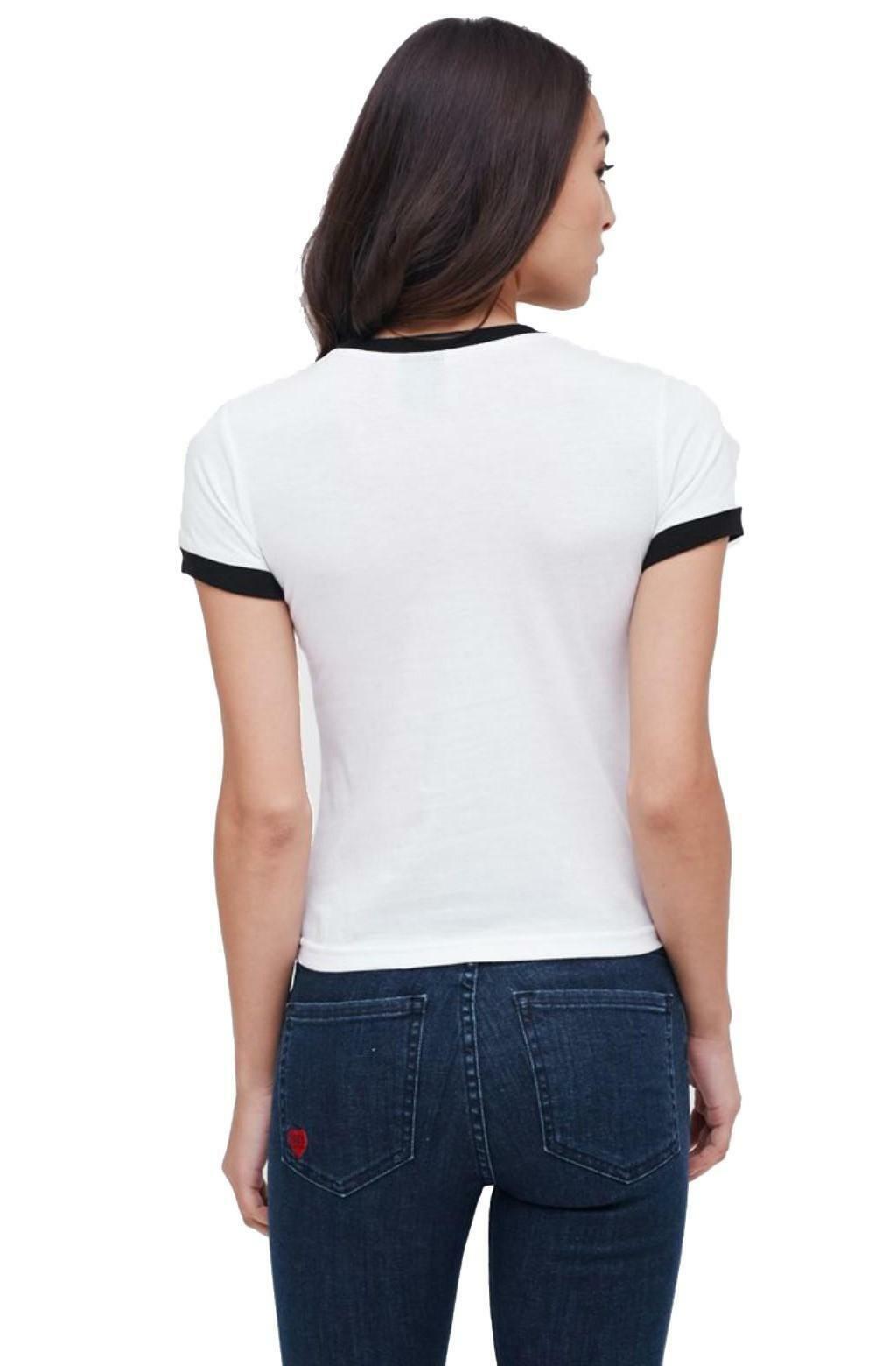 obey obey typewriter t-shirt donna bianca 22118w189