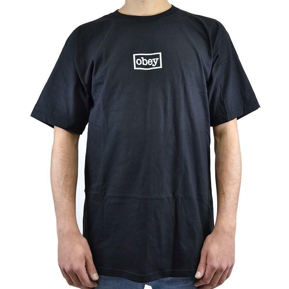 obey obey typewritter t-shirt uomo nera 221180167