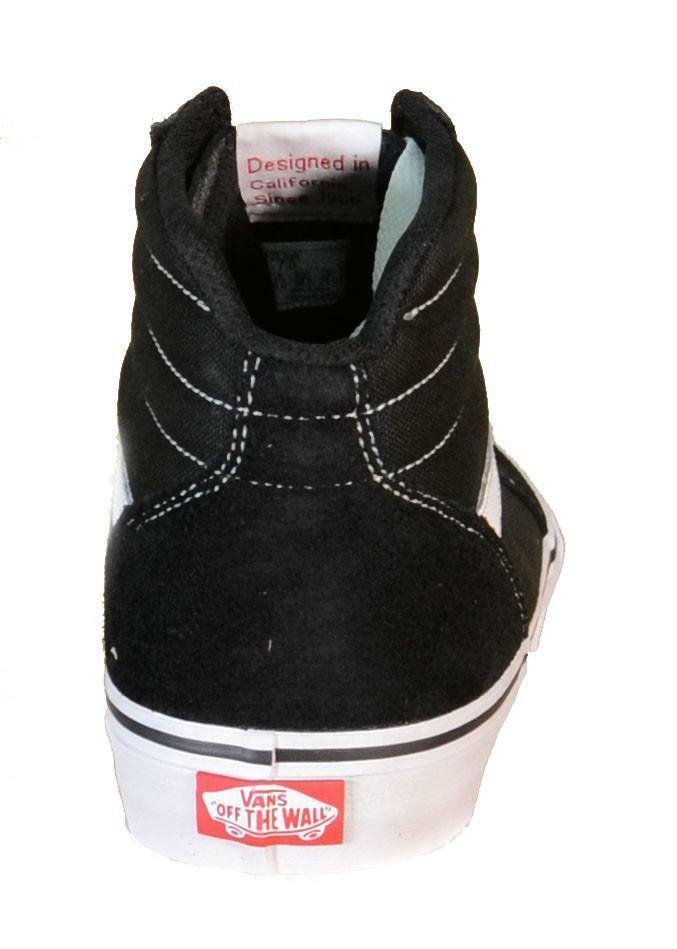 vans vans milton hi scarpe donna nere pelle tela 180c4r