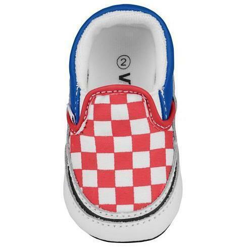 vans vans classic slip-on scarpe bambino rosse blu zupflj