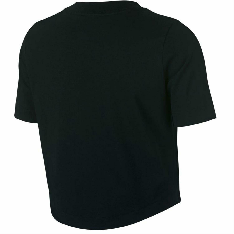 nike nike crop t-shirt donna nera aj3765010