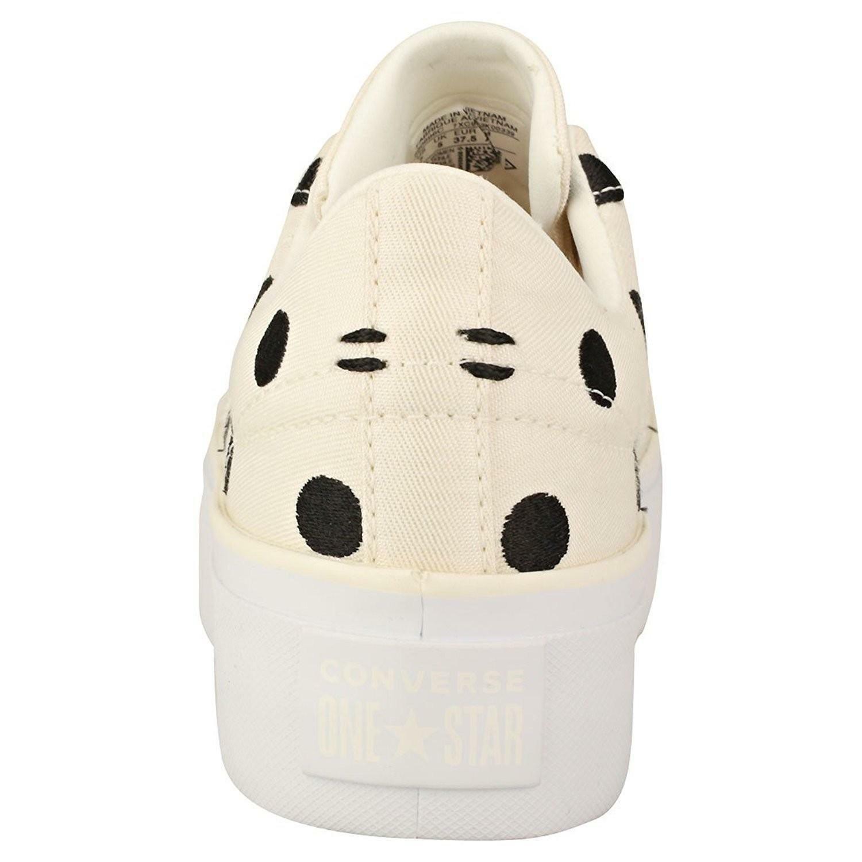 converse converse one star platform ox scarpe sportive donna panna 560696c
