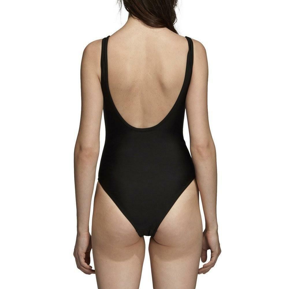adidas adidas 3 stripes  swimsuit costume  donna nero dn8142