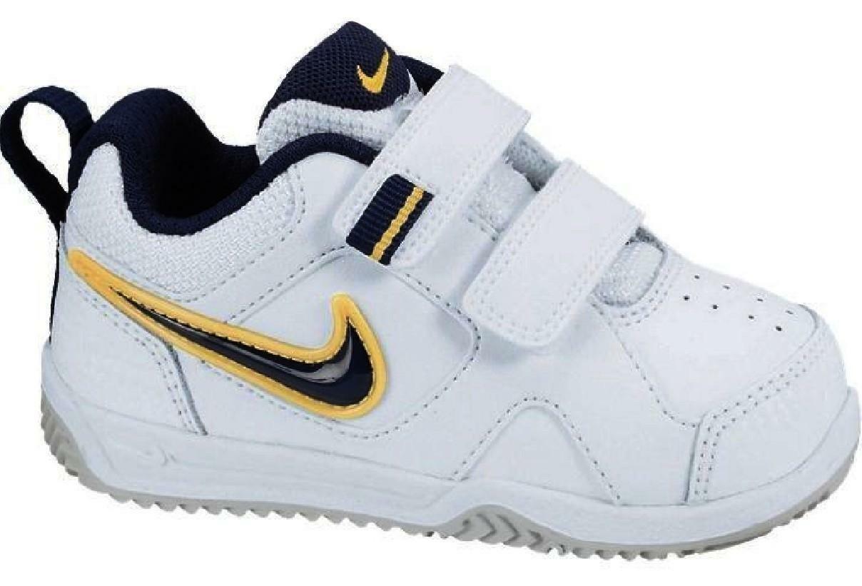 nike lykin 11 tdv scarpe sportive bambino bianche strappi 454476