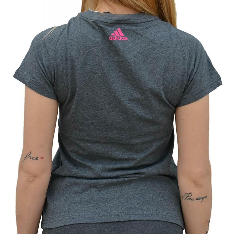 adidas adidas sli tee t-shirt donna grigia cz5769