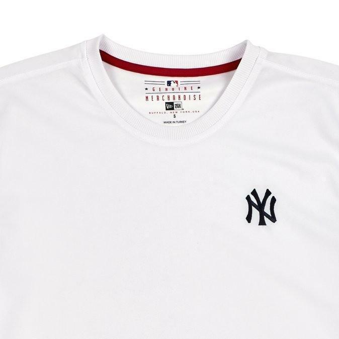 new era new era border edge t-shirt uomo bianca