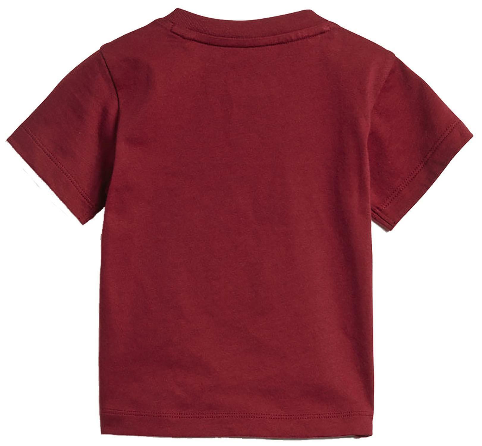adidas adidas i trf tee t-shirt bambino/a bordeaux d96100