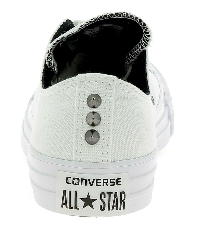 converse converse ctas ox scarpe sportive donna borchie bianche 559829c